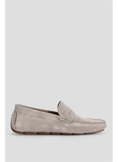 Lufian Stroll Süet Loafer Ayakkabı Haki Taş